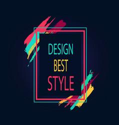 design best style rectangular bright border icon vector image