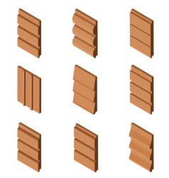 Different brown colored siding profiles in vector