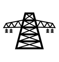 electric pole post high voltage set line icon vector image
