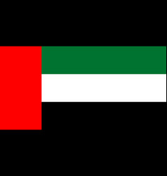 flag of united arab emirates national symbol vector image