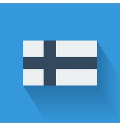 Flat flag of Finland vector image vector image