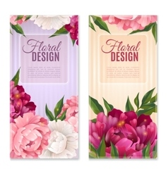 Floral Design Banners Set vector