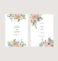 Floral elegant wedding invitation vector