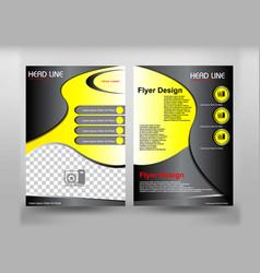 flyer design yelow and dark theme vector image