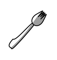 fork eating picnic shadow vector image