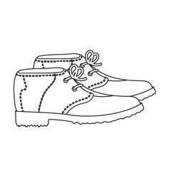 Golfer shoesgolf club single icon in outline vector