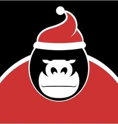 Gorilla Santa vector image
