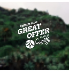 Great Offer premium brand reduction vector image