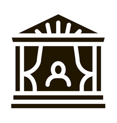 Greek ancient theater icon glyph vector