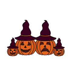 halloween day candys vector image