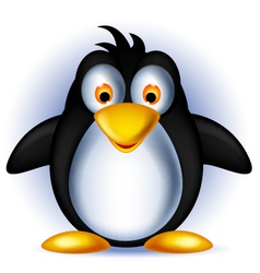 Happy little penguin cartoon vector