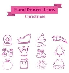 Icon of Christmas element collection vector