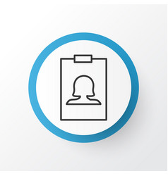 Identity card icon symbol premium quality vector
