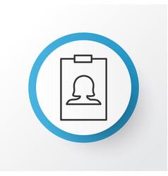 identity card icon symbol premium quality vector image