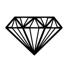 Isolated diamond design vector