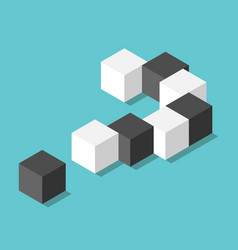 isometric question mark vector image