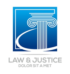 law building and justice icon vector image vector image