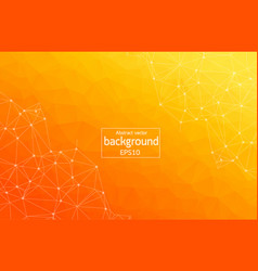 Light orange background with dots and lines vector