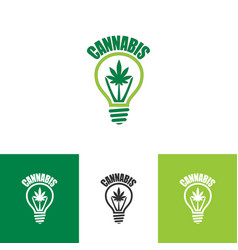 Logo design for cannabis vector