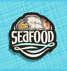 logo for seafood vector image