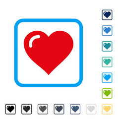 Love heart framed icon vector