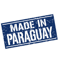 Made in paraguay stamp vector
