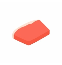 Meat icon isometric 3d style vector