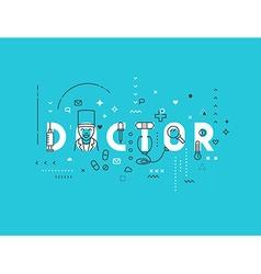 Medicine concept design doctor vector image