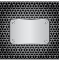 Metal label grid background vector