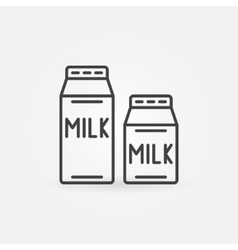 Milk thin line icon vector image