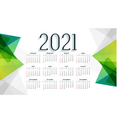 Modern style 2021 new year calendar design vector