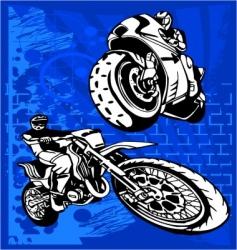 motorbike vector image