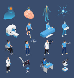 neurology icons set vector image