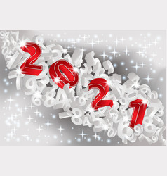 new 2021 year 3d greeting wallpaper vector image