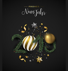 new year 2019 holiday decoration german card vector image