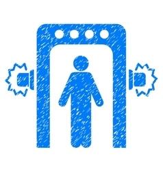 Passenger Screening Grainy Texture Icon vector