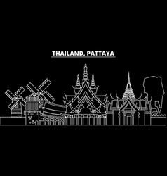 Pattaya silhouette skyline thailand - pattaya vector