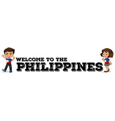 Philippines boy and girl vector image