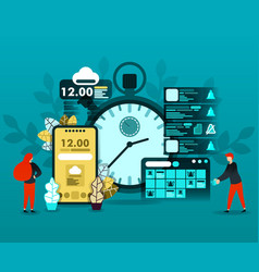 planning schedule and time technology vector image