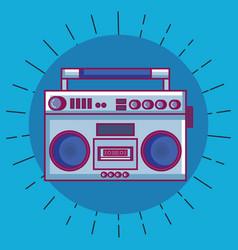 radio retro technology icon vector image