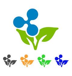 ripple eco startup icon vector image