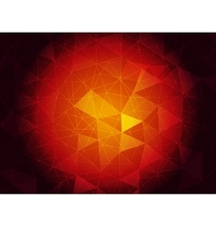 Ruby triangulated background vector image