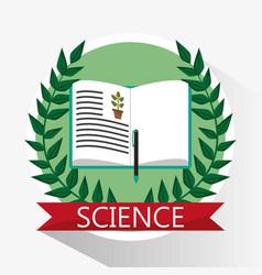 Science biology book learn school vector