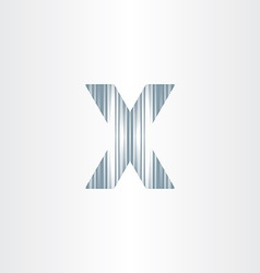 scratched letter x symbol vector image