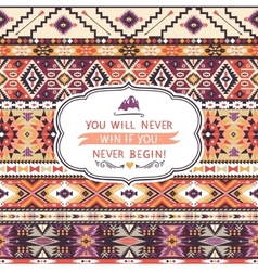 Seamless colorful pattern in tribal style vector image