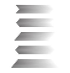 Set different speed lines vector
