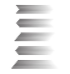 set of different speed lines vector image
