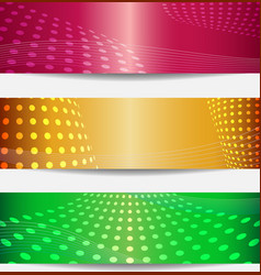 Set of three templates for disco party invitations vector image