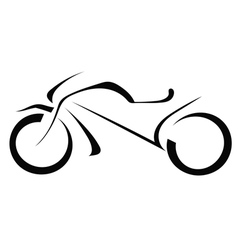 Silhouette of a motorcycle on a white background vector image