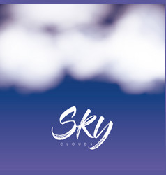 sky clouds poster with clouds over nightly sky vector image